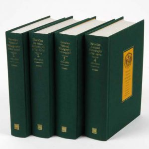 Hawaiian National Bibliography 1780-1900 (complete four volume set)