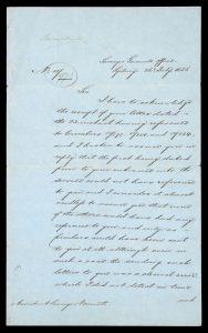 Sir Thomas Mitchell, explorer and surveyor : autograph letter, signed, to E.J. Bennett.