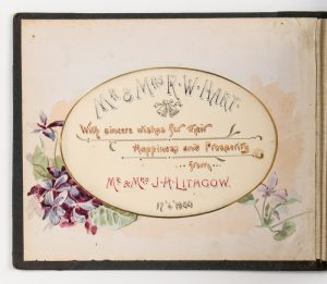 Presentation album of photographs by J.H. Lithgow, Launceston, Tasmania, 1900
