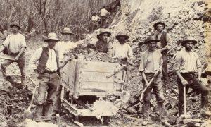 Silver miners near Zeehan, northwest Tasmania, 1891-94BISHOP-OSBORNE, John# 14008
