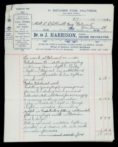 [MELBOURNE] J. Harrison, General House Decorator. 91 Burwood Road, Hawthorn.