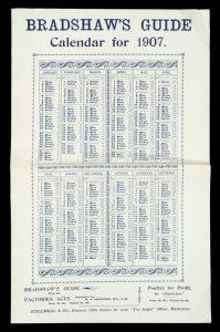 Bradshaw's Guide. Calendar for 1907BRADSHAW'S GUIDE TO VICTORIA# 13996