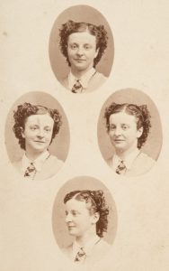 Patent Diamond Cameo carte de visite with portraits of a young woman, Melbourne, 1865-67