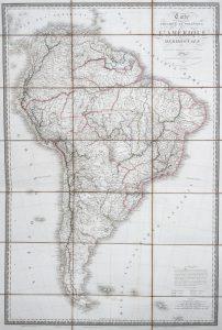 Carte physique et politique de l'Amérique méridionaleBRUE, A. B.# 13955