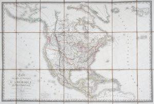 Carte physique et politique de l'Amérique septentrionaleBRUE, A. B.# 13954
