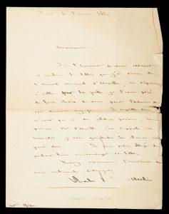 [DUMONT D'URVILLE] Admiral Charles Baudin : autograph letter signed, to Casimir Gide, dated February 1841BAUDIN, Charles (1784-1854)# 12254