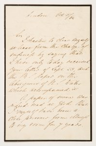 Florence Nightingale : autograph letter concerning a manuscript on the Aborigines of New South Wales