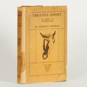 Creative effort. An essay in affirmationLINDSAY, Norman (1879-1969)# 13920