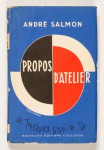 Propos d'Atelier (presentation copy from Sonia Delaunay)[DELAUNAY]. SALMON, André# 13810