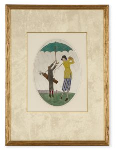 'Golfeuse sous la pluie'MARTY, André-Edouard (1882-1974)# 13742