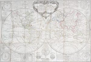 Mappe-Monde ou carte générale de la terre et des mers, suivant les dernieres observations dansCHEZ JEAN# 13736