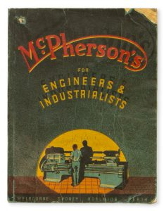 Catalogue issued 1949 by McPherson's Limited : machinery merchants, tool specialists, suppliers of