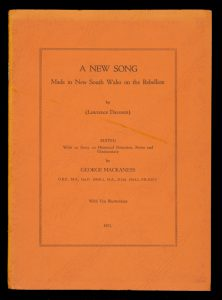 A new song made in New South Wales on the Rebellion [presentation copy]