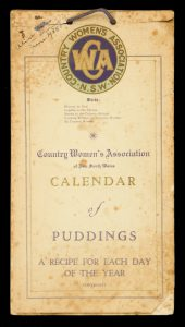 Country Women's Association of New South Wales Calendar of puddings