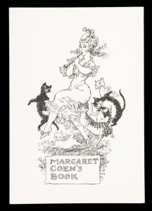 Bookplate for Margaret Coen