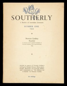 Southerly. A review of Australian literature. Number One 1959. Norman Lindsay number