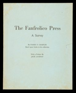 The Fanfrolico Press : a survey