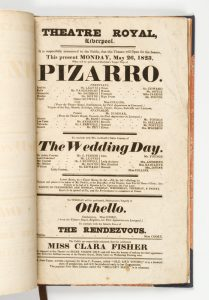 127 printed playbills from the Theatre Royal, Liverpool, 1823