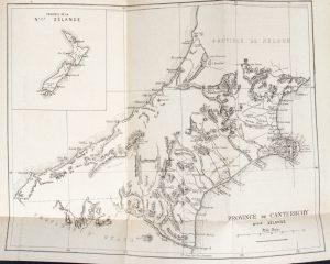 Notice sur la province de Canterbury, Nouvelle Zélande, avec carte.BUDÉ, Eugène de (1836-1910)# 12714