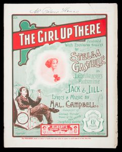 [SHEET MUSIC] The girl up thereCAMPBELL, Hal (words & music)# 12556