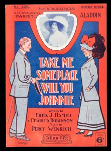 [SHEET MUSIC] Take me some place will you Johnnie