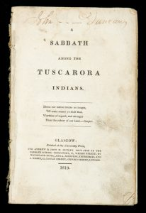 A Sabbath among the Tuscarora Indians