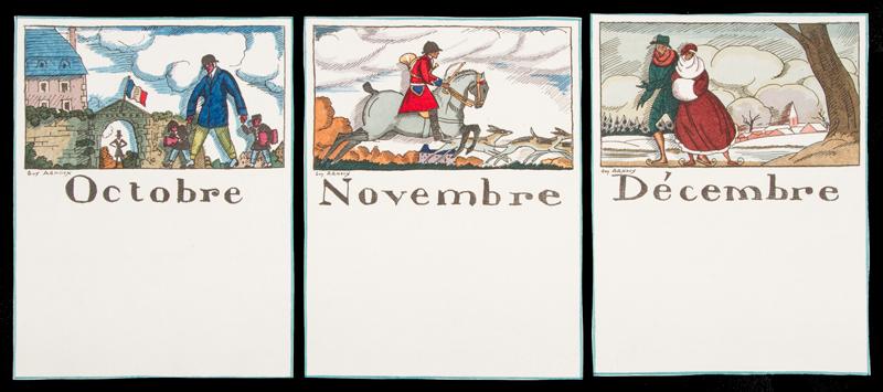 Calendrier 1951.Calendrier Des Douze Mois De L Annee Arnoux Guy 1886 1951