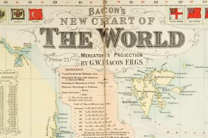 [MAP] Bacon's new chart of the WorldBACON, G. W.# 12307