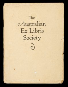Report of the Australian Ex Libris Society (1924)
