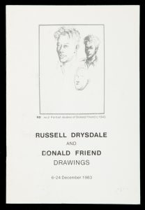 Russell Drysdale and Donald Friend drawings