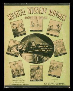 [SHEET MUSIC] Musical nursery rhymes picture bookOUTHWAITE, Ida Rentoul (illustrator)# 11900