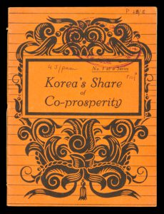 Korea's share of co-prosperityAnon.# 11820