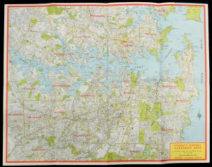 Gregory's road map of Sydney & environsBARRASS, Clive; [Gregory's Guides and Maps Pty. Ltd]# 11255