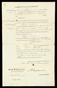 Samuel Raymond Esq. deputy Sheriff of Port Phillip ... to William J. Sugden.PORT PHILLIP. SUPREME COURT.# 11189