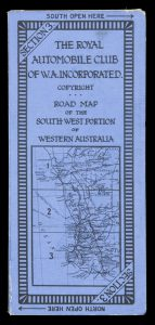 Road map of the south-western portion of Western Australia. Section 3 [South]