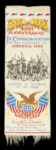 [STEVENGRAPH BOOKMARK] 400th Anniversary in commemoration of the discovery of America 1492