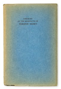 Checklist of the bookplates of Eirene Mort