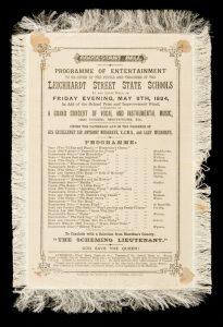 [THEATRE] Leichhardt Street State Schools concert programme, Brisbane, 1884# 1847