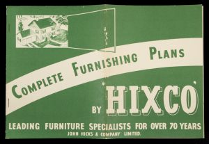 Complete furnishing plans by 'Hixco' : leading furniture specialists for over 70 years