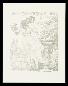 Bookplate for A. H. Conybeare