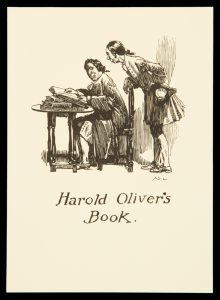 Bookplate for Harold Oliver