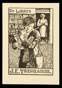 Bookplate for J. E. TremearneLINDSAY, Norman (1879-1969)# 10536