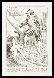 Bookplate for Evan CameronLINDSAY, Norman (1879-1969)# 10534