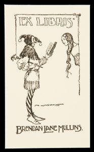 Bookplate for Brendan Lane MullinsLINDSAY, Norman (1879-1969)# 10533