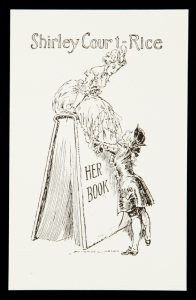 Bookplate for Shirley Court-RiceLINDSAY, Norman (1879-1969)# 10532