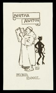 Bookplate for Bertha AshtonLINDSAY, Norman (1879-1969)# 10527