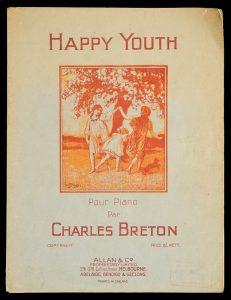 [SHEET MUSIC] Happy youth : pour piano / par Charles Breton