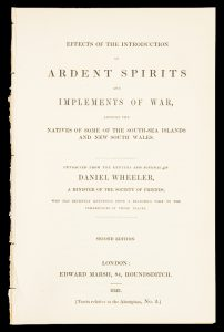 Effects of the introduction of ardent spirits and implements of war amongst the natives of some