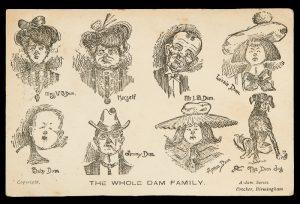 [ARTIST POSTCARD] The Whole Dam Family, circa 1906# 10182