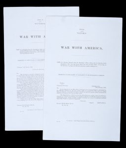 War with America.